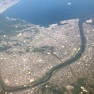 Aerial view of Oita city.jpg
