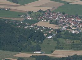 Aerial view of Penthalaz village