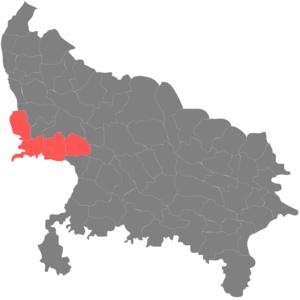 Administrative divisions of Uttar Pradesh - Image: Agra Mandal
