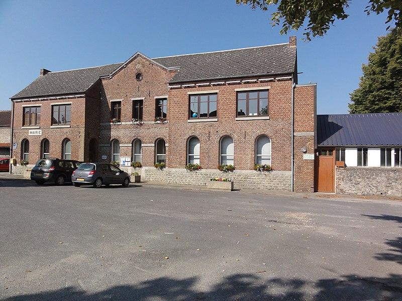 Aibes (Nord, Fr) mairie-école