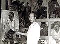 Akira Tanaka dans son atelier à Chennevières (France).jpg