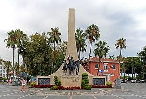 Alanya. Monument to Mustafa Kemal Atatürk