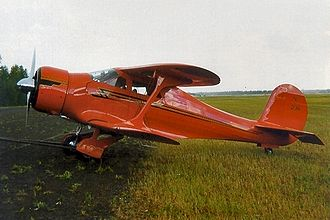 Stagger (aeronautics) - Negative stagger of a Beechcraft Model 17 Staggerwing in Alaska