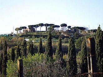 Castel Savelli - Monte Savello with the ruins of Castel Savello