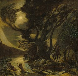 Albert Pinkham Ryder: Siegfried and the Rhine Maidens