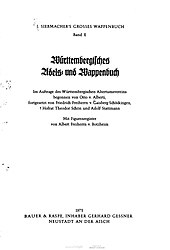 Otto von Alberti: Württembergisches Adels- und Wappenbuch