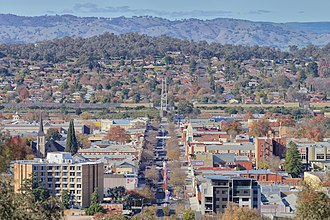 Albury - The city of Albury as seen from Monument Hill