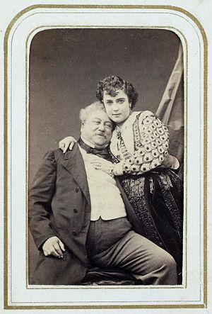 Adah Isaacs Menken - Menken with Alexandre Dumas, 1866