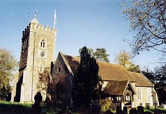 Grade II* listed buildings in Berkshire - Image: All Saints, Binfield geograph.org.uk 1526957