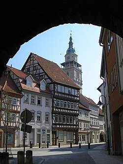 in the historical center of Bad Langensalza