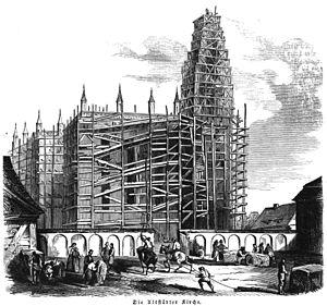 New Altstadt Church - Image: Altstadtkirche 1844