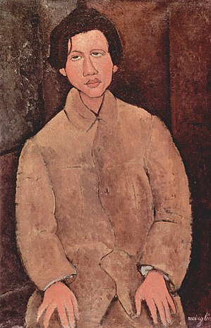 Chaim Soutine - Amedeo Modigliani, Portrait of Soutine, 1916