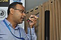 Amitava Akuli Demonstrates CDAC Sufal Bangla Agri-price IVR Mobile Application - NCSM - Kolkata 2018-04-23 0321.JPG