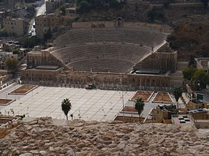 History of Amman - The Roman Theatre built around 100 AD.