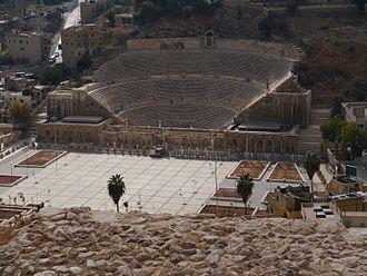 History of Amman - The Roman Theatre built around 100 AD.