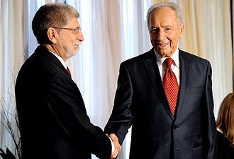 Brazil–Israel relations - Brazilian Foreign Minister Celso Amorim and Israeli President Shimon Peres.