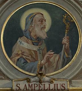 Ampelius (bishop of Milan) Saint Archbishop Of Milan