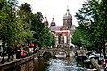 Amsterdam, Oudezijds Voorburgwal, view to Armbrug and Sint-Niklaaskerk.jpg