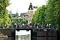 Amsterdam, the Kloveniersburgwal, view to the house 26 Nieuwe Doelenstraat.jpg