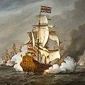 Amsterdam - Scheepvaartmuseum - schilderij Zeeslag bij Kijkduin - detail.jpg