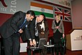 Anand Sharma and the UK Secretary of State for Business, Innovation and Skills, Dr. Vince Cable jointly launching the Website of UK-Indian Skills Forum during the 8th Meeting of India-UK Joint Economic and Trade Committee.jpg