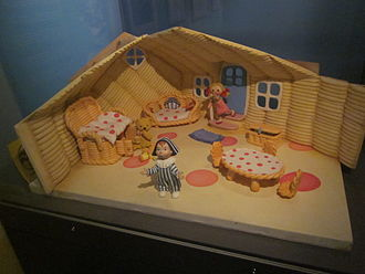 Andy Pandy - Stop motion set on display at the National Science and Media Museum, with Andy Pandy, Looby Loo and Teddy