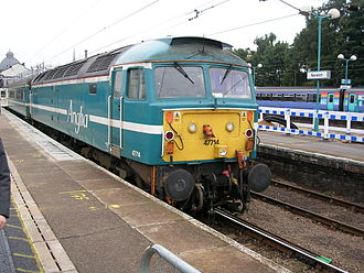 Cotswold Rail - Anglia Railways liveried 47714 at Norwich station in 2005