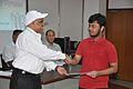 Anil Shrikrishna Manekar Presents Certificate to Ayanesh Maiti - Orientation cum Selection Camp for XXI International Astronomy Olympiad - NCSM - Kolkata 2016-05 3830.JPG