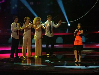 Albania in the Eurovision Song Contest - Image: Anjeza Shahini Albania 2004 Final