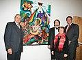 """Ankauf des Gemäldes """"Irdische und himmlische Caritas"""" durch Rotkreuzpräsident Willi Sauer.JPG"""