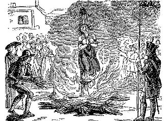 Mariticide - Image: Anne Williams burned at the stake