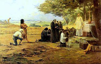 São Paulo - Founding of São Paulo, 1913 painting by Antonio Parreiras