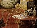 Antonio de Pereda - Allegory of Vanity - monedas, collares y otros elementos alegoricos a la vanidad y lo terrenal.jpg