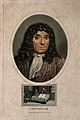 Antonius van Leeuwenhoek. Coloured stipple engraving by J. C Wellcome V0003469.jpg