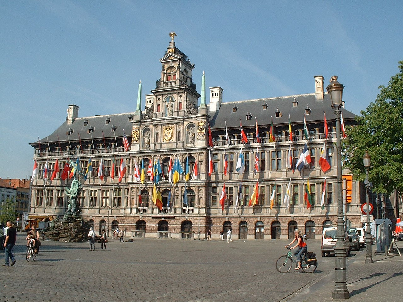File:Antwerp town hall,balance of antwerp town