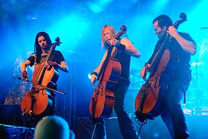 Cello - Apocalyptica at the 2009 Ilosaarirock festival.