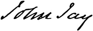 John Jay (lawyer) - Image: Appletons' Jay John John signature