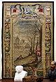 Arazzeria medicea, su dis. di michelangelo cinganelli, soprapporta con paesaggio e cacciatori, 1619-21.jpg