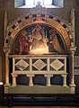 Arca dei robiani, con madonna col bambino e santi dell'ambito di giovannino dei grassi, 1390 ca. 01.jpg