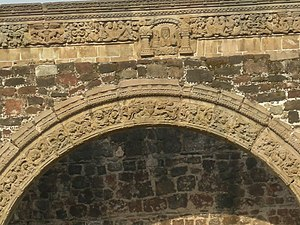 Capilla abierta - Arch with decorative details from the Tlalmanalco chapel