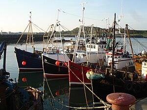 English: Fishing Boats in Ardglass, County Dow...