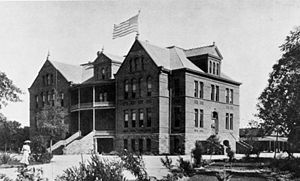 Arizona State University - Old Main on the Arizona Territorial Normal School (future Arizona State University) campus, circa 1890