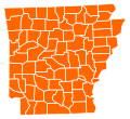 Arkansas Republican Presidential Primary Election Results by County, 2012.svg