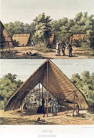 Arawak - Arawak village (1860).