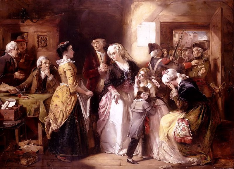 Soubor:Arrest of Louis XVI and his Family, Varennes, 1791.jpg