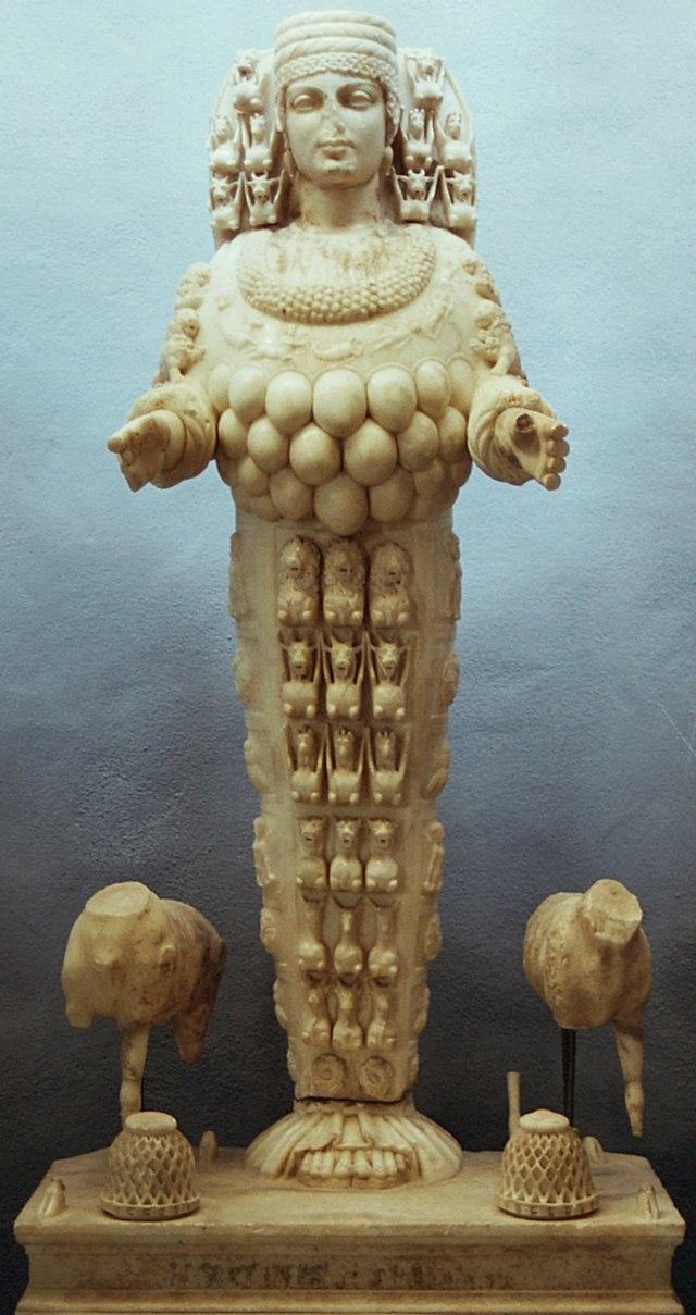 From commons.wikimedia.org: Artemis of Ephesians, 1st century AD, AM Ephesus 718, EFEM27 {MID-154318}
