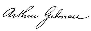 Arthur Gilman (educator) - Image: Arthur Gilman (educator) signature