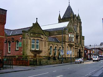 Ashton-under-Lyne - Ashton Town Library was built in the second half of the 19th century.