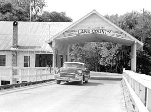 Astor Bridge - The original bridge in 1957