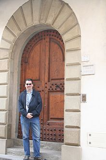 David Eicher at Galileo's house in Arcetri, near Florence, Italy, March 2009.